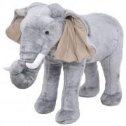 vidaXL Standing Plush Toy Elephant Grey XXL