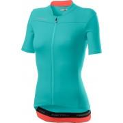 Castelli Anima 3 tricou ciclism dama Light Torquoise/Brilliant Pink S