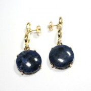 Semi Earring Gold Plated Jewelry with Natural Stone Star