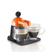 Brandani Melita Express narandžasti aparat za kavu s 2 staklene šalice
