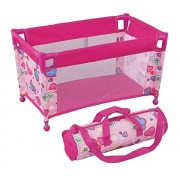 """Pack N Play Pen Bed for Dolls Doll Bed Fits Any Baby Dolls and Dolls up to 18"""" Carry Bag Included by MiWa Toys"""