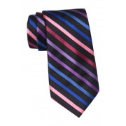 SAVILE ROW CO Bond Stripe Tie BLACK