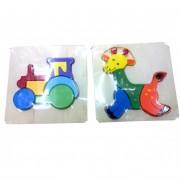Fa puzzle, színes (1db)