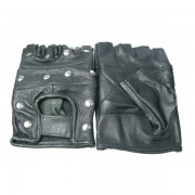 Skórzane rękawiczki motocyklowe nabijane płaskimi ćwiekami