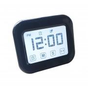 Cocina Temporizador Reloj Despertador Digital Gran Pantalla Tactil LCD Vienen Con Luz De Noche Para Cocinar, Hornear (negro)