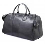 Brødrene GERONE Grafitowa męska torba ze skóry Podróżna smooth leather