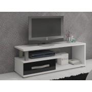 MORAVIA FLAT LEHUA TV stolek 1D, bílá/černý lesk