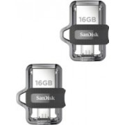 SanDisk Ultra Dual Drive M3.0 Flash Drive-Pack Of Two 16GB OTG Pendrive 16 GB Pen Drive(Multicolor)