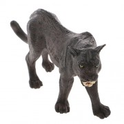 Phenovo Realistic Black Panther Wildlife Animal Figurine Model Figure Kids Toy Gift