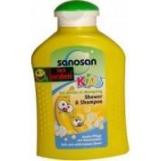 Sampon pentru copii Sanosan Shower and Shampoo Banana