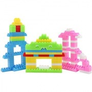 Emob 88 Pcs Classic Colors Bulding Stacking Blocks Set for your Little One to Explore Their Creativity (Multicolor)