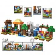 Minecraft My World 4 IN 1 Craft Educational Toys Village Tree House Building Blocks Model kits Hobbies kid Gift brick my worlds