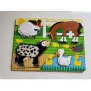 Melissa & Doug Rompecabezas de madera con texturas Melissa & Doug Animales de la granja