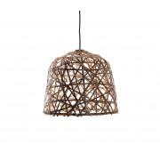 Black Bird's nest hanglamp S Ø 35 cm bamboe