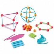 Set de constructie pentru copii - Forme geometrice 122 pcs