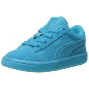 PUMA Suede Iced Fluo Kids Sneaker (Toddler/Little Kid/Big Kid) , Atomic Blue/White, 4 M US Toddler