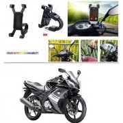 AutoStark Motorcycle Mount Cell Phone Holder/Installed to Motorcycle Rearview mirror Phone Mount For Yamaha YZF R15 S