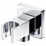 Imex® - Suporte de chuveiro quadrado para saída flexível CR - IMEX