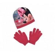 Disney Mimmi Pigg, mössa med vantar, barn (Ljusrosa, 54)