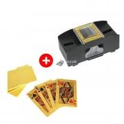 Zsuga csomag. Kártya keverő + Francia kártyapakli