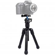 Puluz Bolsillo Mini Tripod Mount Microspur Fotos De Aleacion De Magnesio Con 360 Grados De Cabeza De Bola Para DSLR Y Cámara Digital, Altura Regulable: 24.5-57cm, Carga Max: 3kg