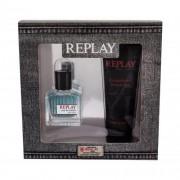 Replay Replay For Him подаръчен комплект EDT 30 ml + душ гел 100 ml за мъже