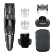 Aparat de tuns barba Philips BT7520/15, 20 setări lungime, Autonomie 100 min., 2 piepteni, Trimmer, Display LED, Dark chrome