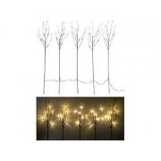 5 Deko-Zweige, je 36 Kunststoff-Knospen & 6 LEDs, batteriebetr., Timer | Led Baum