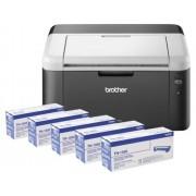 Brother Impressora Laser HL-1212WVB + 5 TONERS