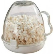 BEGMY Plastic EZ Folding Bowl Microwave Popcorn Maker (White Color) 500 ml Popcorn Maker(White Color)