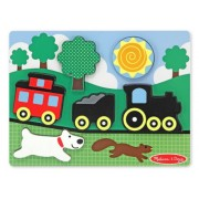 Melissa & Doug Caboose Chunky Puzzle Scene (Red)