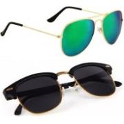 Phenomenal Aviator, Clubmaster Sunglasses(Green, Black)