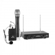 VHF-2 HS Conjunto 2 x Microfone Headset s/Cabo VHF 2 Canais 50m
