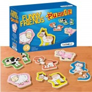 Puzzle lemn Animale Prietenoase Beleduc, 6 animale