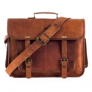 "Goatter Original Leather 16"" Laptop Bag…"