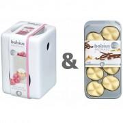 Bolsius Wax Burner Set with Aromatic Wax Melts Vanilla 107790501875