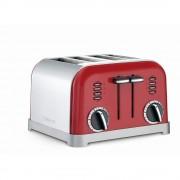 tostador cuisinart elite 4 rebanadas cpt-180mr - rojo