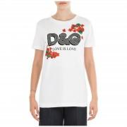 Dolce&Gabbana T-shirt maglia maniche corte girocollo donna