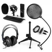 CM001S Set Microfono V2 - Microfono A Condensazione Cuffie Nero