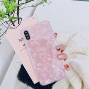 Luxury Shell kagylóhéj mintás szilikon iPhone tok - Rózsaszín, 11 Pro Max