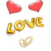 Zlaté balóny LOVE na svadby, oslavy a výročia