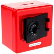 Alcancia Caja Fuerte De Combinacion Color Rojo