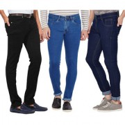 Stylox Men Stylish Pack Of 3 Mid Rise Casual Wear Jeans