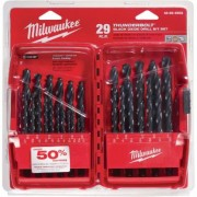 Milwaukee Thunderbolt Black Oxide Drill Bit Set - 29-Piece, Model 48-89-2802