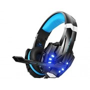 Kotion BENGOO G9000 Stereo Gaming Headset for PS4, PC, Xbox One Controller, Noise Cancelling Over Ear Headphones with Mic, LED Light, Bass Surround, Soft Memory Earmuffs for Laptop Mac Nintendo Switch Games