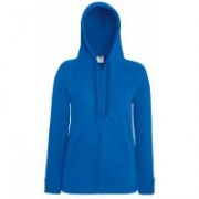Lady-Fit Lightweight Hooded Sweat Jacket Royal Blue