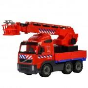 Polesie Toy Fire Truck Volvo Red