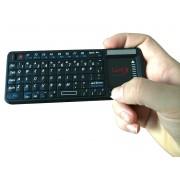 Mini tastiera wireless LKM Security® con mouse touchpad e puntatore laser