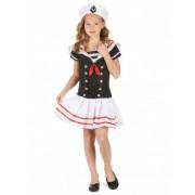 Disfraz marinera niña L 10-12 años (130-140 cm)