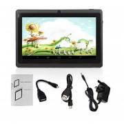 7-pulgadas De Pantalla 1024*600 Niños Enchufe UK Quad-Core De Tablet PC 512MB +8GB NEGRO Pad